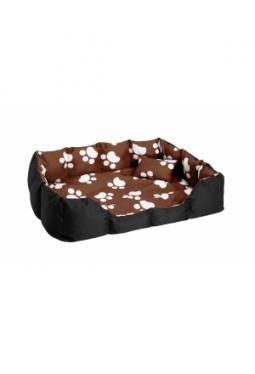 Hundebett mit Decke und Kissen braun/..