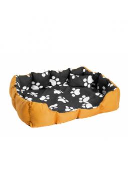 Hundebett mit Decke und Kissen schwar..