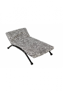 Design Hundeliege im Zebra-Look