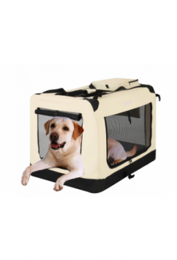 Hundebox faltbar XL Beige / 81 x 58 x ..