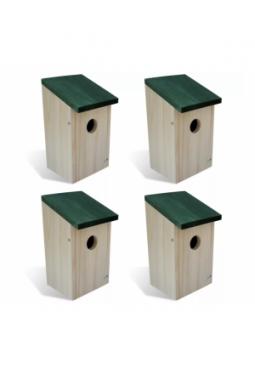 Vogelhaus Nistkasten Holz 4 Stück