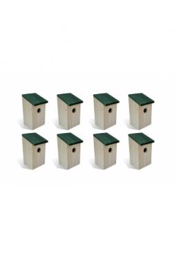 Vogelhäuser 8 Stk. Holz 14 x 15 x 22 cm