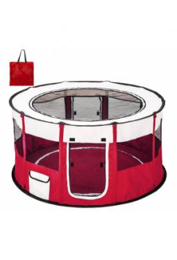 Welpenlaufstall Carola rot