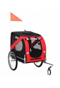 Hunde-Fahrradanhänger Rot und Schwarz _1