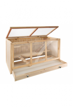 Nagerkäfig aus Holz 95x50x50cm