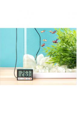Digitales Aquarium-Thermometer mit Uhr..