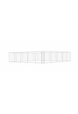Hundezwinger Verzinkter Stahl 10x10x2 m