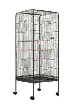Vogelkäfig Grau 54 x 54 x 146 cm Stahl