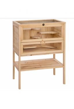 Kleintierkäfig aus Holz 60x40x80cm