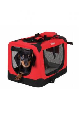 Hundebox faltbar S Rot / 50 x 35 x 33,5 cm