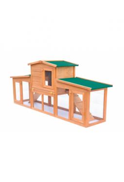 Kaninchenstall Kleintierhaus Hasenstall mit Dächern Holz
