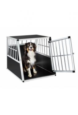 Hundetransportbox single mit schräger Rückwand