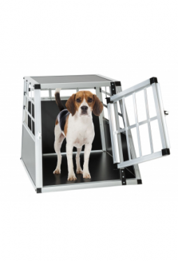 Hundetransportbox single 54 x 69 x 50 cm mit gerader Rückwand