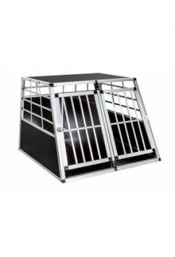 Hundetransportbox doppel 97 x 90 x 69,5 cm